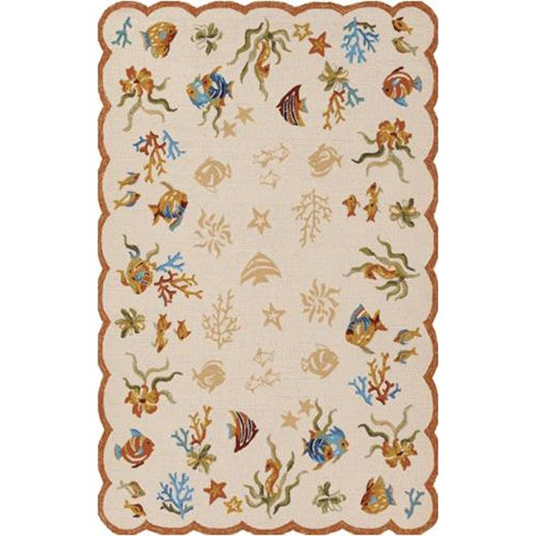 Couristan Outdoor Escape Coral Dive Sand Indoor/Outdoor Rug - 8' x 11'