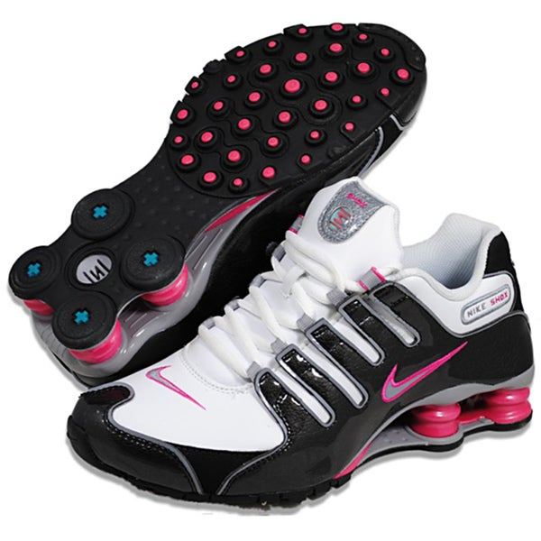 official photos 8e5ec a8df3 Shop Nike Women s  Shox NZ SL  White  Black  Pink Running Shoes - Free  Shipping Today - Overstock - 7828114