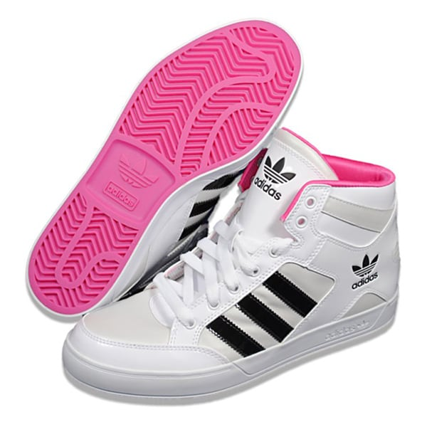 Shop Adidas Women s  Hard Court Hi  White  Black Athletic Shoes - Free  Shipping Today - Overstock - 7828137 bbf9580c1