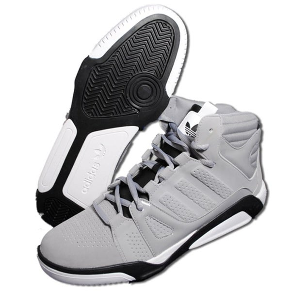 Adidas Men's 'LQC-Basketball' Grey/ Black Shoes