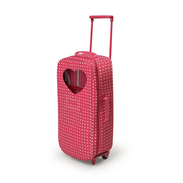 Star Pattern Trolley Doll Travel Case with Rocking Bed and Bedding ...