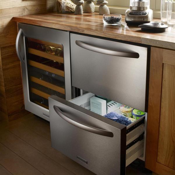 Merveilleux KitchenAid Architect Series II 24 Inch Built In Double Drawer Refrigerator/  Freezer