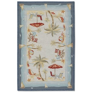 "Picadilly Seaside Heights Ocean Indoor/Outdoor Area Rug - 5'6"" x 8'"