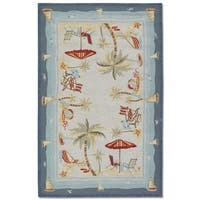 Couristan Outdoor Escape Pacific Heights Ocean Indoor/Outdoor Rug - 8' x 11'
