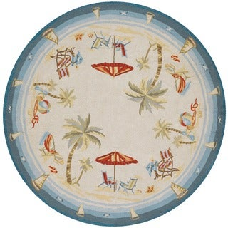 Outdoor Escape Pacific Heights/ Ocean Rug (7'10 Round)