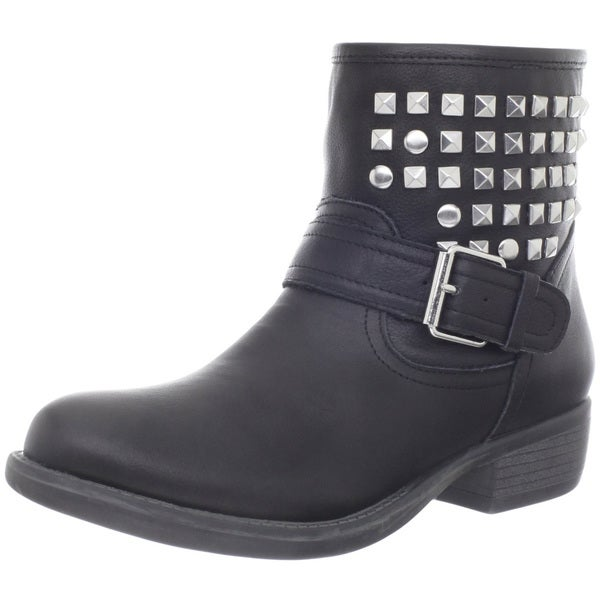 Steve Madden Women's 'Outtlaww' Leather Studded Ankle Boots. Opens flyout.