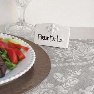 American Atelier Fleur De Lis 7-piece Place Cardset