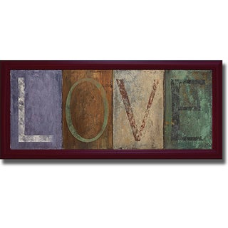 Patricia Pinto 'Love' Framed Canvas Art
