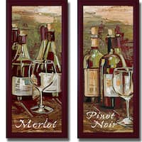 Heather French-Roussia 'Merlot and Pinot Noir' Framed 2-piece Canvas Art Set - Multi