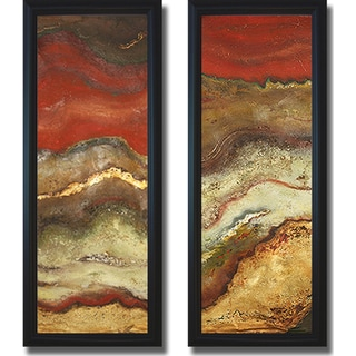 Patricia Pinto 'Tierra Panel I and II' Framed 2-piece Canvas Art Set