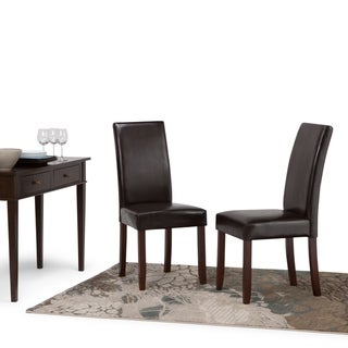 """WYNDENHALL Normandy Parson Dining Chairs (Set of 2) - 17.5""""w x 20.1""""d x 40.4""""h"""