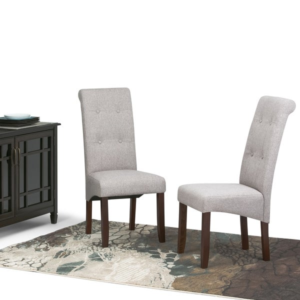 WYNDENHALL Essex Tufted Parson Chairs (Set of 2)