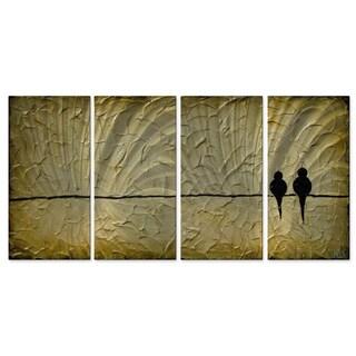 Danlye Jones 'Birds On A Wire II' Wall Sculpture
