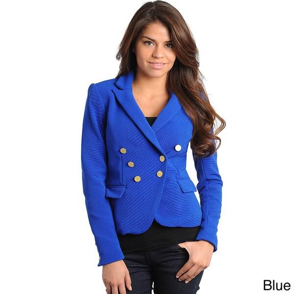 Stanzino Women's Double Breasted Long Sleeve Blazer