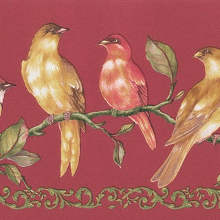 Brewster 'Red Birds' Border Wallpaper (15 feet)