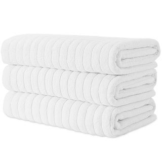 "Maxima Combed Turkish Cotton 40x67"" Bath Sheet (Set of 3) - Multiple Color Options"