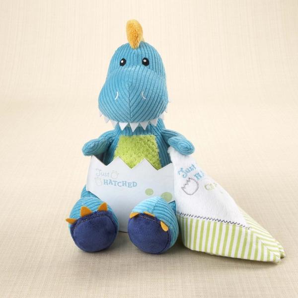 Baby Aspen Just Hatched Plush Dinosaur and Lovie Gift Set