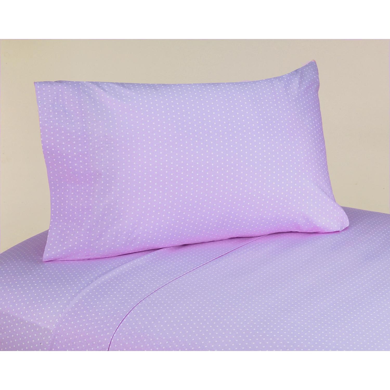 JoJo Designs 200 Thread Count Mod Dots Purple Cotton Shee...