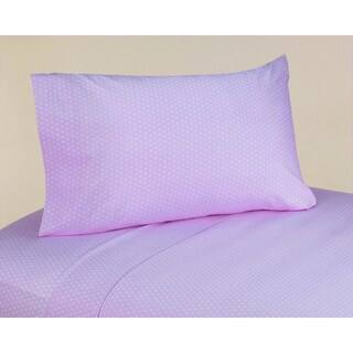 Sweet JoJo Designs 200 Thread Count Mod Dots Purple Cotton Sheet Set