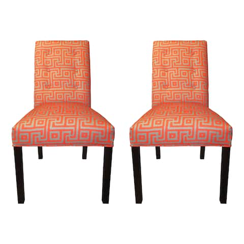 Greece Atomic 6-button Tufted Dining Chairs (Set of 2) - 21 inches w. x 26 inches d. x 39 inches h