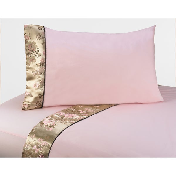 Sweet JoJo Designs 200 Thread Count Abby Rose Bedding Collection Sheet Set