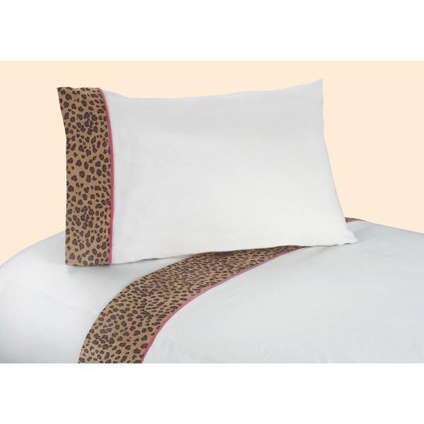 Sweet JoJo Designs Cheetah Girls' Bedding Collection Cotton Sheet Set