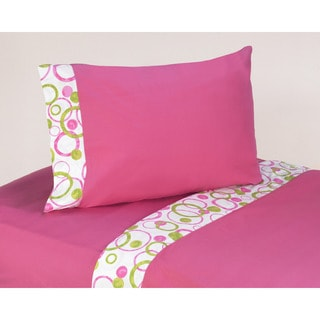 Sweet JoJo Hot Pink Mod Circles 200 Thread Count Cotton Sheet Set