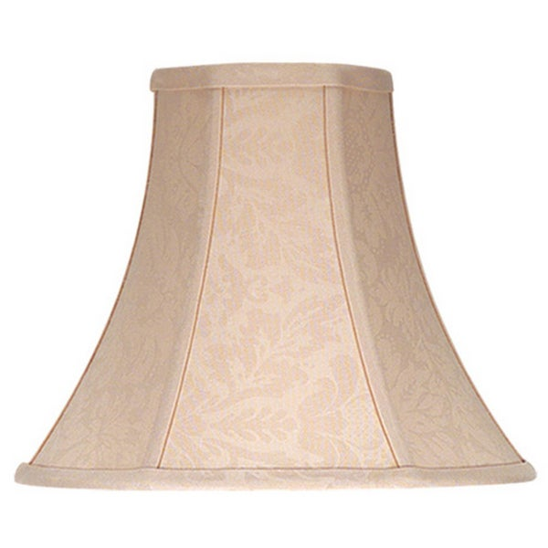 Cal Lighting Bell Floral Design Fabric Lamp Shade