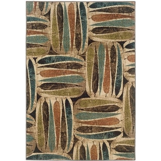 Indoor Ivory and Brown Earthy Transitional Area Rug (10' x 13')