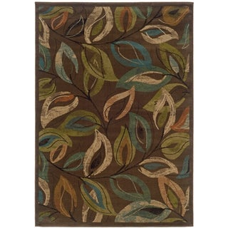 Indoor Brown/green Area Rug (10' X 13')