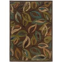 Indoor Brown/green Area Rug - 10' X 13'