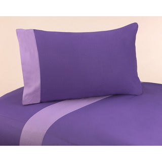 JoJo Designs Purple Lavender Trim 200 Thread Count Cotton Sheet Set