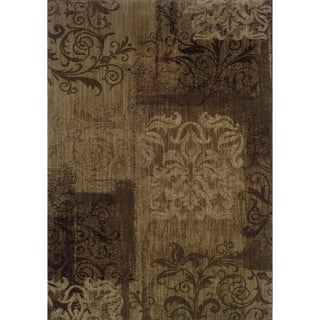 Indoor Brown/ Beige Floral Area Rug (9'10 X 12'9)
