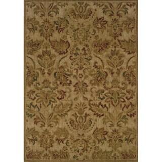 Indoor Beige/ Green Floral Area Rug (9'10 x 12'9)