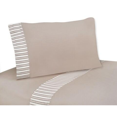 Sweet JoJo Designs 200 Therad Count Giraffe Neutral Bedding Collection Cotton Sheet Set