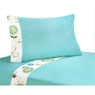 Sweet JoJo Designs 200 Thread Count Layla Bedding Collection Cotton Sheet Set