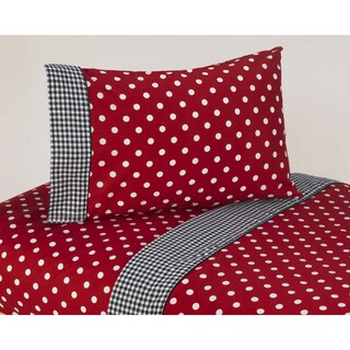 Sweet JoJo Designs 200 Thread Count Polka-dot Ladybug Sheet Set