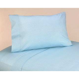 Sweet JoJo Designs 200 Thread Count Mod Dots Bedding Collection Blue Cotton Sheet Set