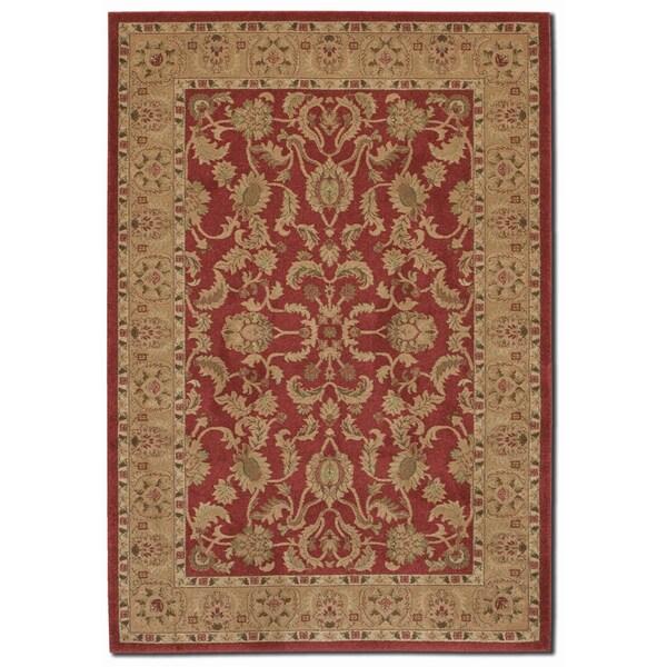 Courtisan 'Pera Qum' Crimson Area Rug (7'10 x 11'2)