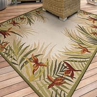 Couristan Covington Tropic Gardens/Sand Multi Indoor/Outdoor Area Rug - 2' x 4'