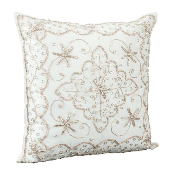 Handmade Beaded Decorative Pillow