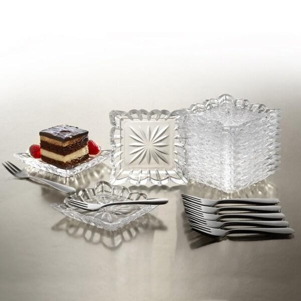 Crystal Clear Alexandria 25-piece Taster Plate Set
