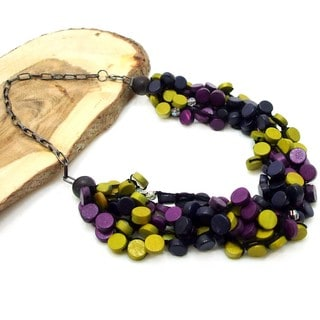 Handmade Tropical Cascades Coco Palm Wood Necklace (Philippines)
