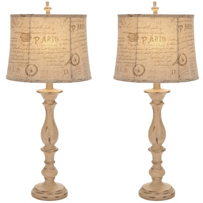 Pillar Shabby Chic Lamp Sets Find