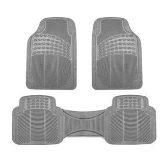 FH Group Gray Vinyl Full Set Floor Mats