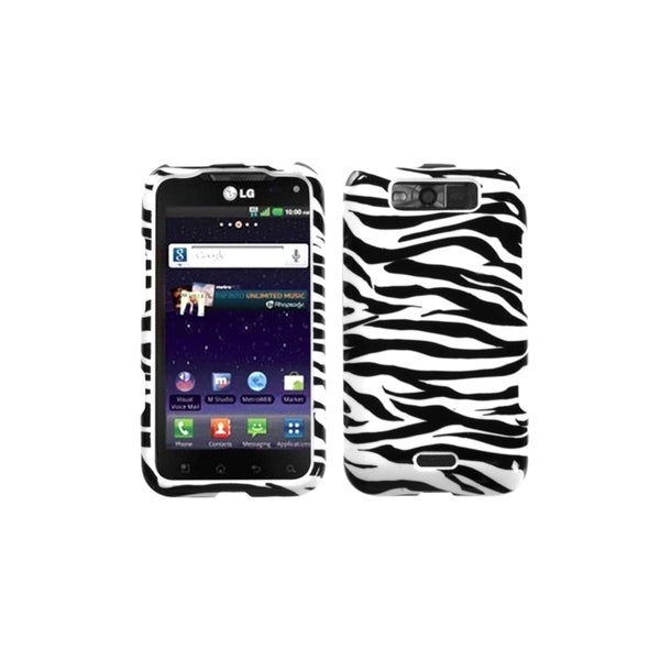 INSTEN Zebra Case Cover for LG LS840 Viper/ MS840 Connect 4G