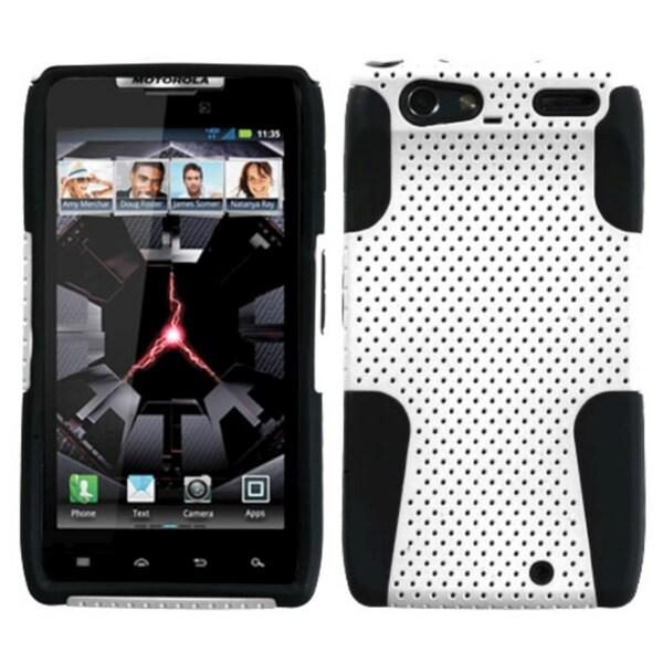 INSTEN White/ Black Astronoot Phone Case Cover for Motorola Droid Razr XT912