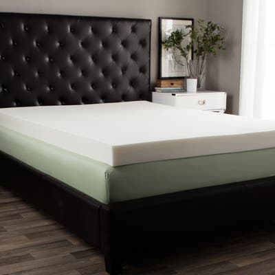 Splendorest 5-inch Queen/King-size Memory Foam Mattress Topper - White