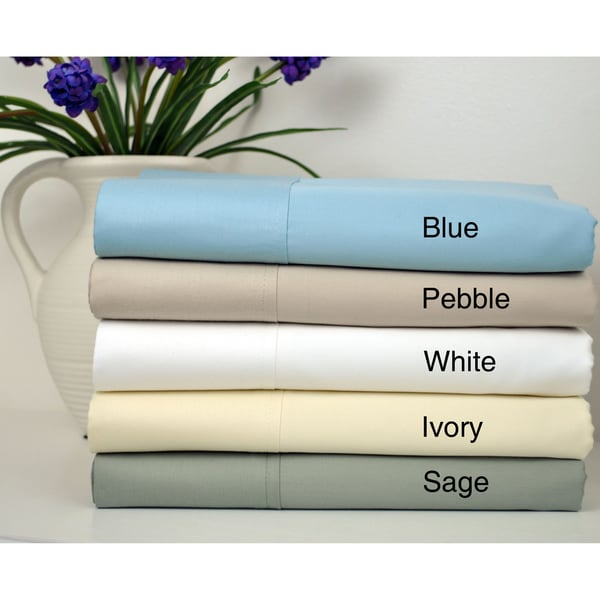 Cotton Sateen 400 Thread Count Sheet Set with Bonus Pillowcases (6-piece set)
