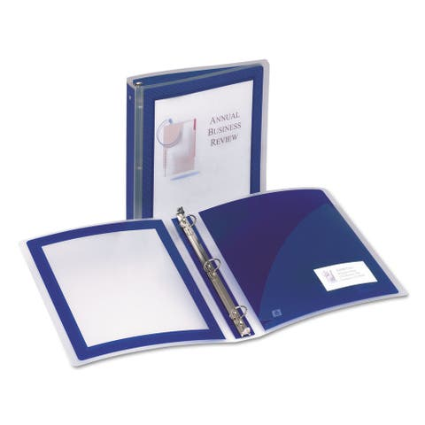 """Smead Navy Blue Flexi-View Round Ring View Binder - 1 1/2"""""""
